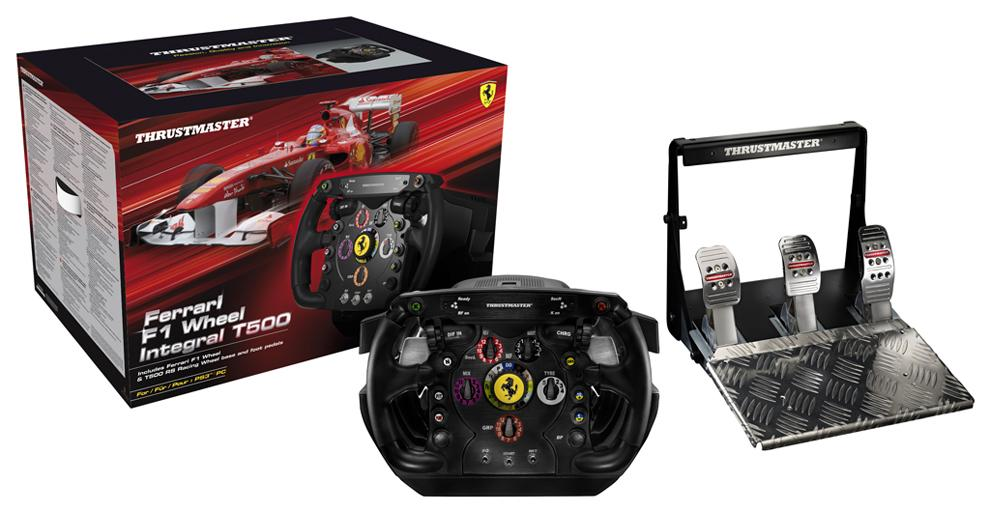 thrustmaster presenta el volante ferrari f1 wheel integral t500 planetadejuego. Black Bedroom Furniture Sets. Home Design Ideas
