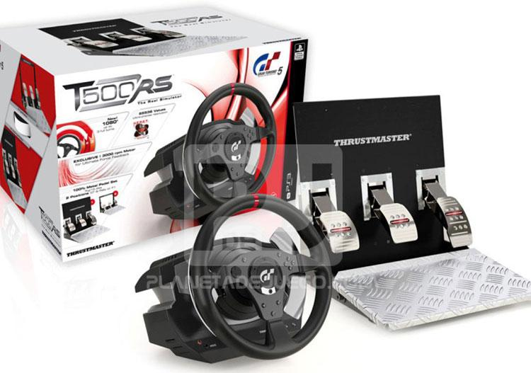 t500 rs thrustmaster el volante oficial de gran turismo 5 planetadejuego. Black Bedroom Furniture Sets. Home Design Ideas